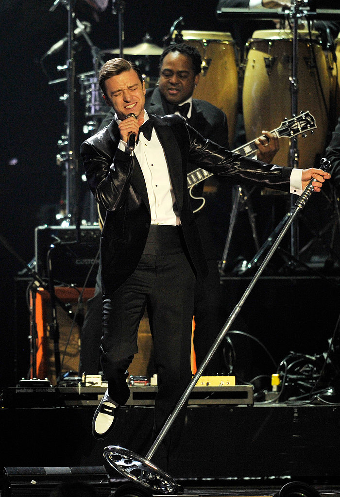 "Justin Timberlake was back on stage at the Brit Awards in London in February. He premiered ""Mirrors"" for the first time at the show, after releasing the track online on the night of the Grammys."