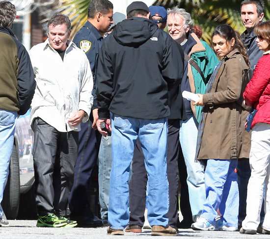 Robin Williams and Mila Kunis shot scenes for their new movie.