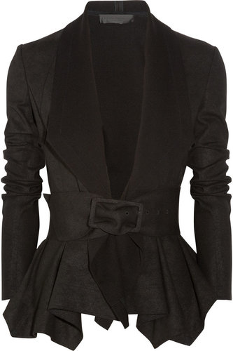 Donna Karan Draped coated-jersey jacket
