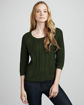 Design History Cable-Knit Sweater