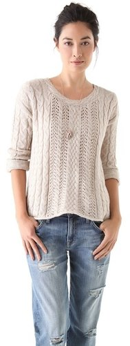 Splendid Tahoe Cable Knit Sweater