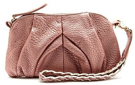 Metallic Braided Strap Wristlet