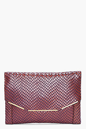 LANVIN Brown Miss Sartorial Envelope Clutch
