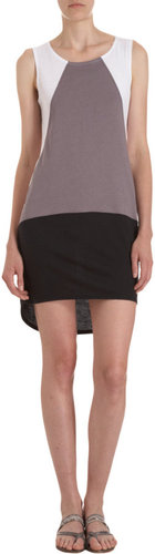 Barneys New York CO-OP Colorblock Hi Lo Dress