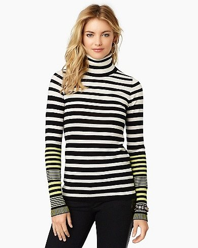 Pop Stripe Turtleneck