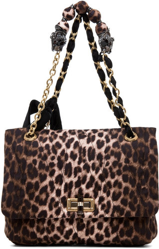 Lanvin 10 Year Anniversary Happy Handbag in Leopard
