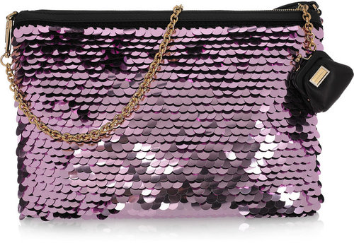 Dolce & Gabbana Metallic paillette-embellished clutch