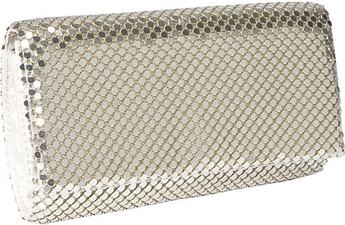 Jessica McClintock East West Metal Mesh Roll Clutch