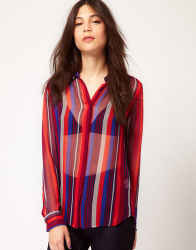 Equipment Long Sleeve Silk Earl Blouse