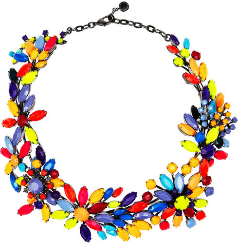 Tom Binns Riri painted Swarovski crystal necklace