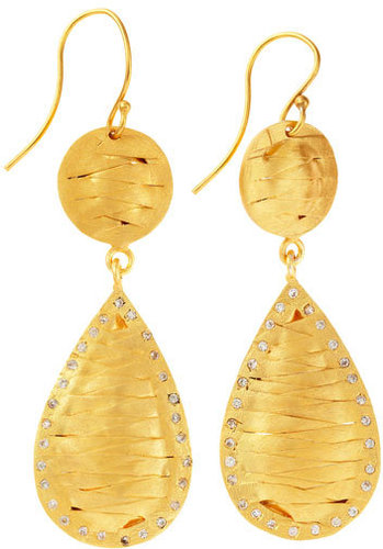 Kevia Woven Teardrop Earrings