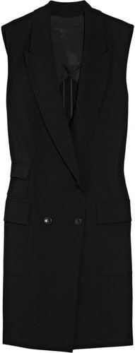 Alexander Wang Sleeveless double-breasted crepe blazer
