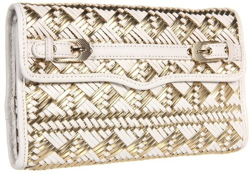 Rebecca Minkoff - Buckled Clutch (White/Gold) - Bags and Luggage