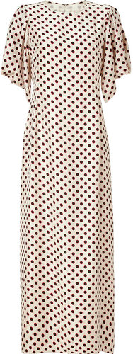 Raoul Cream Polka Dot Silk Tara Maxi Dress