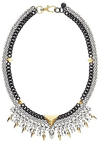 Rhinestone Spike Collar