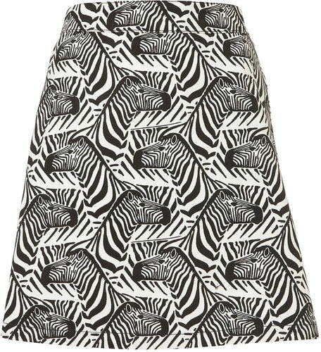 **Zebra Print Skirt by J.W. Anderson for Topshop