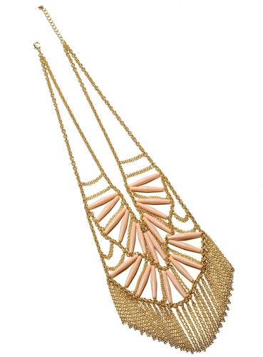 Tribal Fringe Statement Necklace