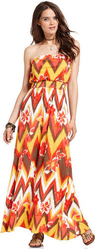 Lucky Brand Jeans Dress, Melanie Strapless Printed Maxi