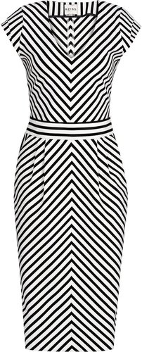 Petula FITTED STRIPE DRESS