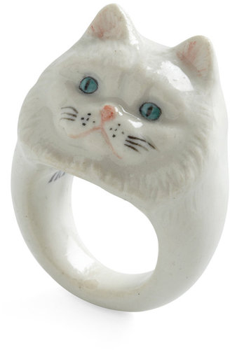 Constant Companion Ring in Persian Cat