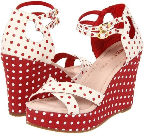 Bass - Danita (Cream/Cherry Polka Dots) - Footwear