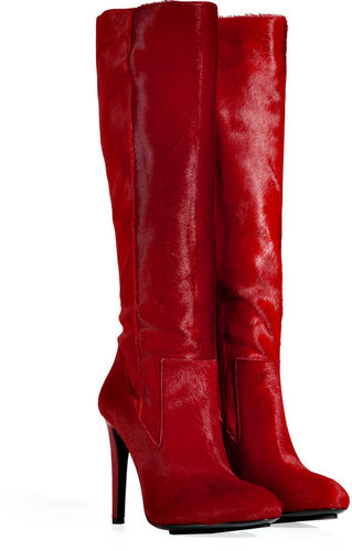Burak Uyan Ruby Red Haircalf Boots