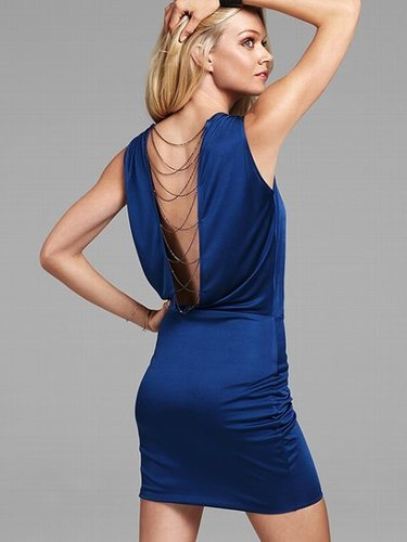 Chain-back Dress