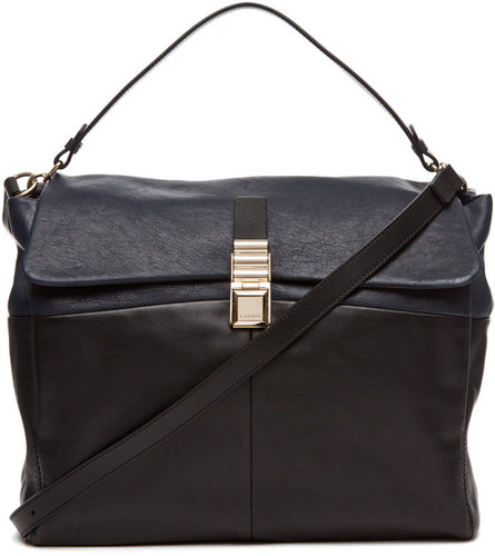 Lanvin Large Double Carry Bag in Blue