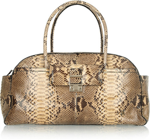 Lanvin JL Large python bowling bag