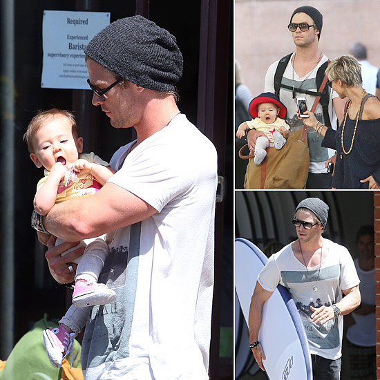 Chris Hemsworth Shows Sydney to His Girls Elsa and India