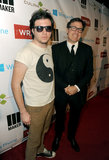 David O. Russell brought his son to celebrate at TheWrap's pre-Oscars bash in LA.