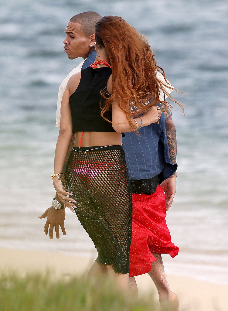 Rihanna celebrated her birthday with Chris Brown in Hawaii.