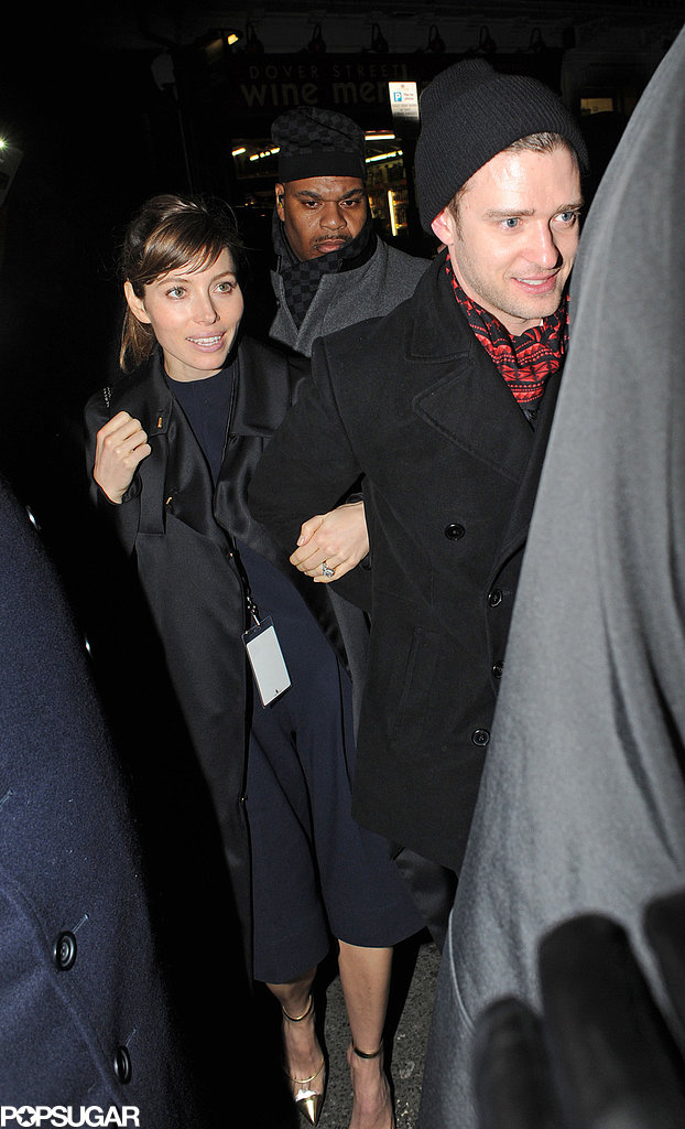 After Justin Timberlake's Brit Awards performance in February, he and Jessica Biel went to the Sony afterparty in London.