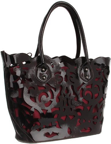 SR SQUARED by Sondra Roberts Perforated AC22867 Tote