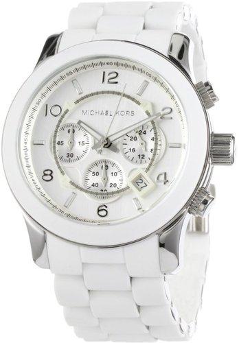 Michael Kors Men's MK8108 Oversize White Silicone Runway Watch