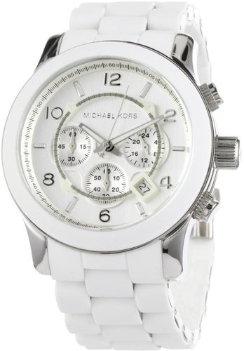 Michael Kors Men's MK8108 Oversize White Silicone Runway Watch
