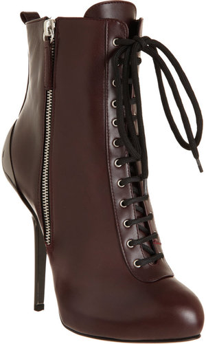 Giuseppe Zanotti Covered Heel Lace-Up Ankle Boot
