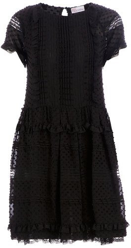 Red Valentino Bobbled shift dress