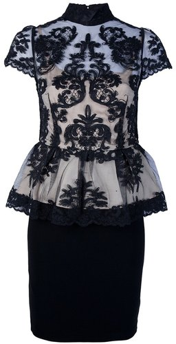 Alice+Olivia peplum lace top