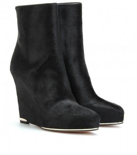 Givenchy HAIRCALF LEATHER WEDGE BOOTS