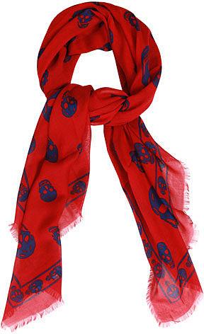 Alexander McQueen Classic cashmere-blend skull scarf