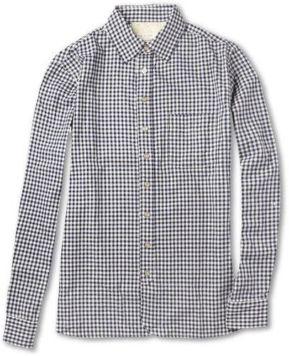 Rag & bone Gingham Check Cotton Shirt