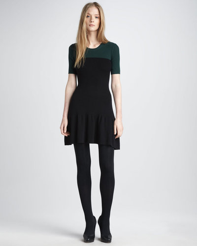 Theory Knit Fit-and-Flare Dress