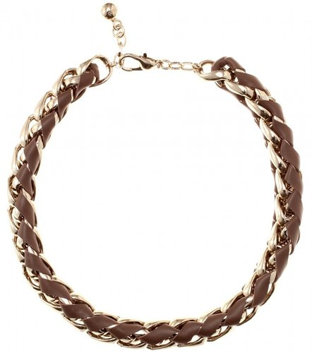 Chloé LEATHER WOVEN CHAIN-LINK NECKLACE