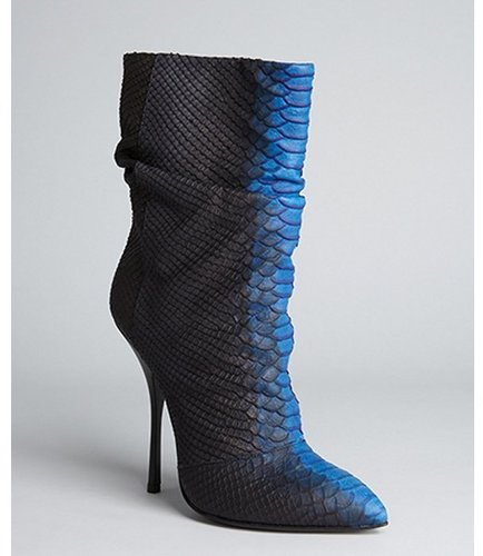 Giuseppe Zanotti black snake embossed leather 'Dirty' boots