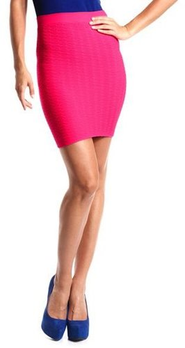Textured Seamless Mini Skirt