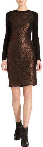Prabal Gurung Lace Panel Dress