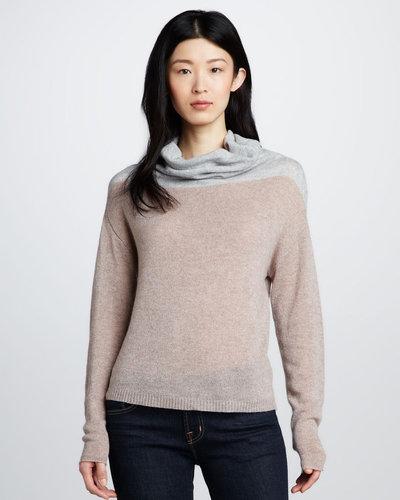 Rebecca Taylor Colorblock Cashmere Sweater