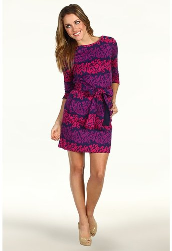 Lilly Pulitzer - Jonah Dress (True Navy Follow The Leader Jacquard) - Apparel