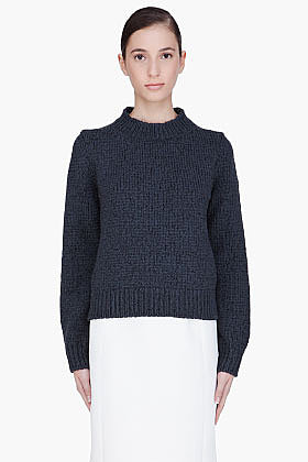 MARC JACOBS Charcoal Chunky Knit Sweater
